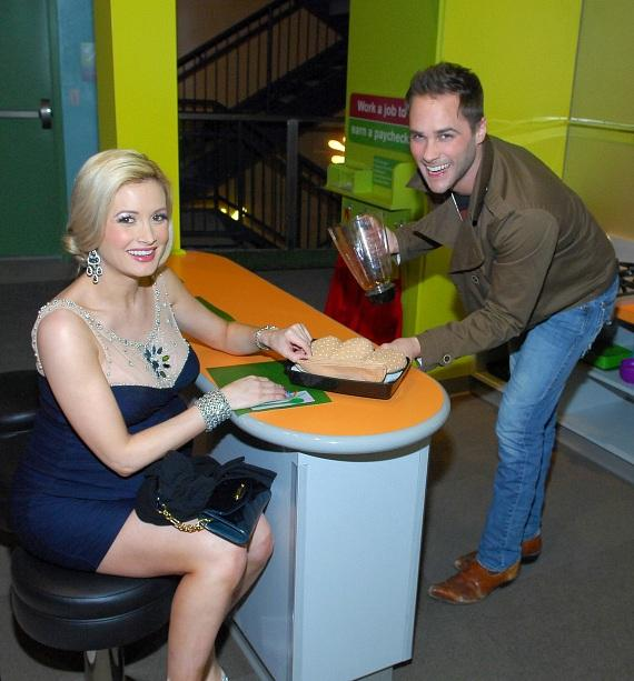 Holly Madison and Josh Strickland at opening of The Discovery Children's Museum