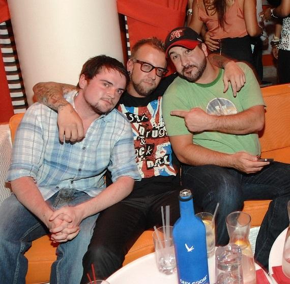 Joey Fatone with friends at Surrender Nightclub