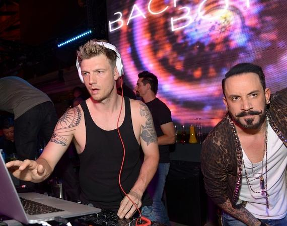Nick Carter in the DJ Booth