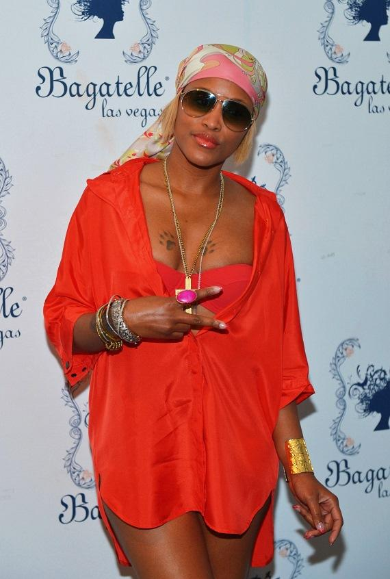 Eve arrives at Las Vegas' Bagatelle Beach