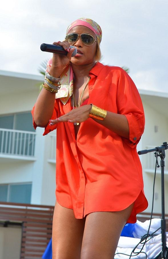 Grammy-Award Winning Rapper Eve Performs at Las Vegas' Bagatelle Beach