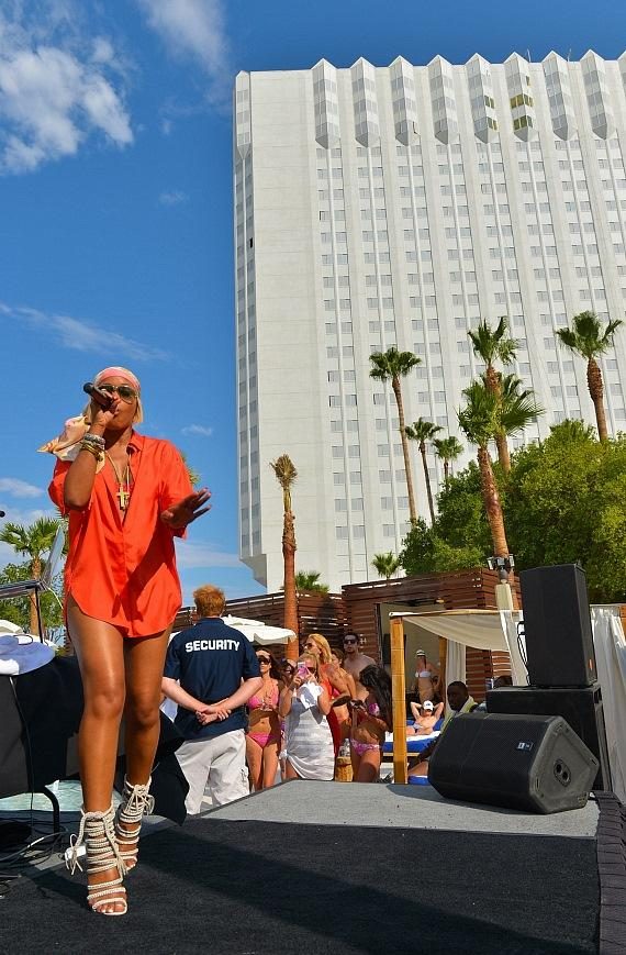Eve performs at Las Vegas' Bagatelle Beach
