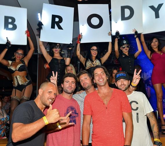 Brody Jenner with friends at Hyde Bellagio, Las