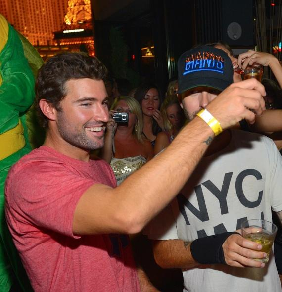 Brody Jenner celebrates at Hyde Bellagio, Las