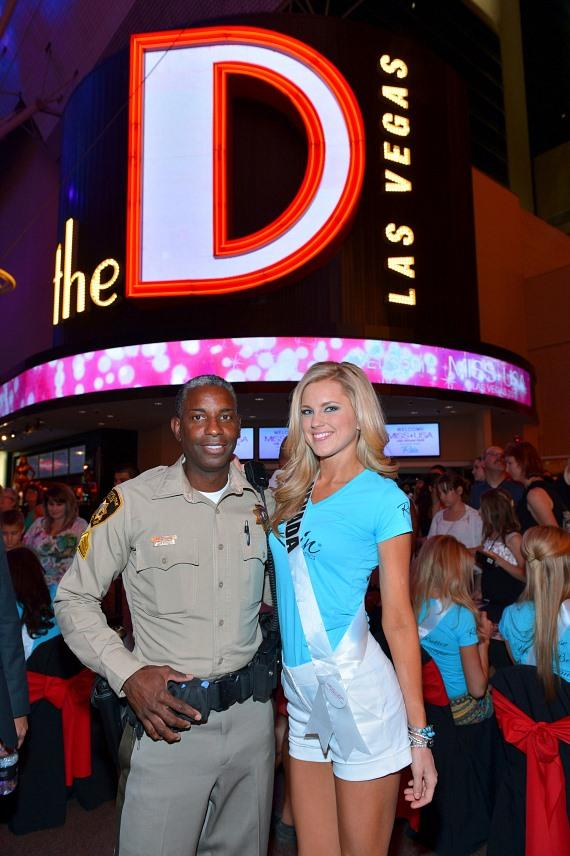 """Sergeant Tom Jenkins of """"Vegas Strip"""" and Miss Nevada Chelsea Caswell"""