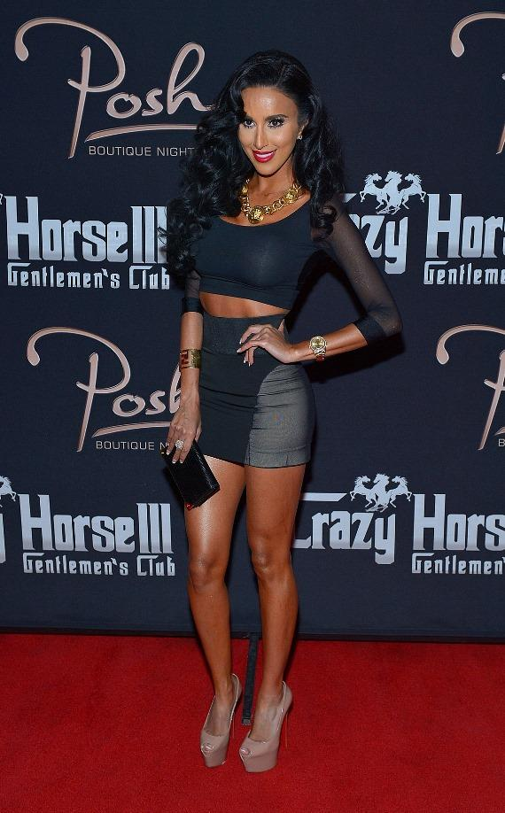 Lilly Ghalichi on the red carpet at Posh Boutique Nightclub