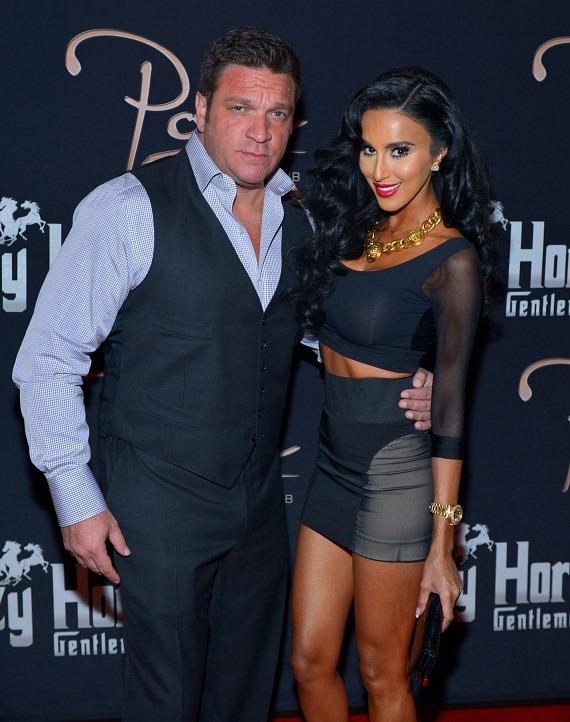 Owner Nando Sostilio with Lilly Ghalichi on the red carpet at Posh Boutique Nightclub