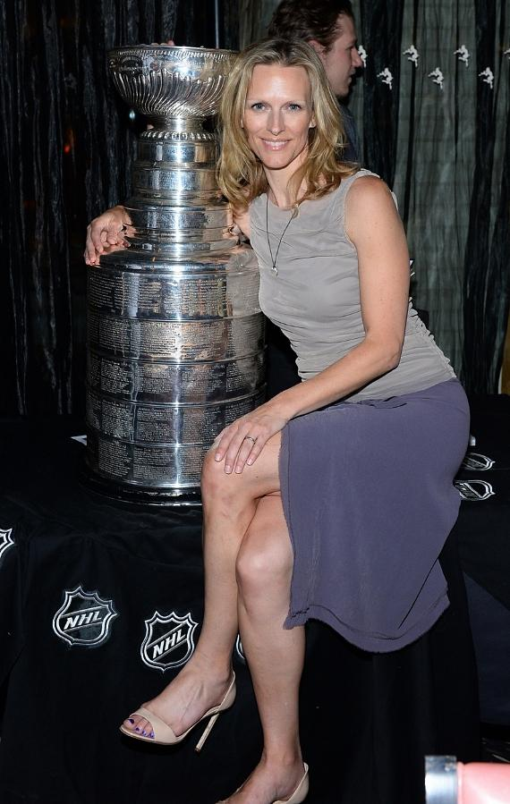 Jenna Morton with The Stanley Cup