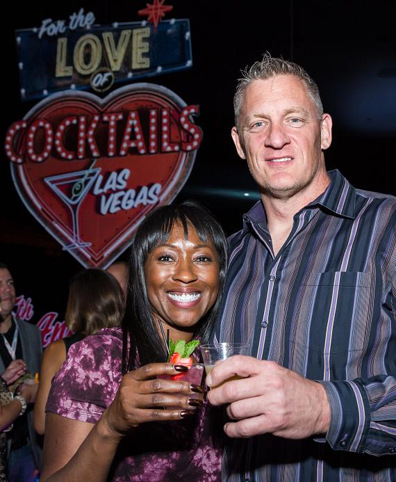 "Sherice Parish and Michael Rasp at ""For The Love of Cocktails"""