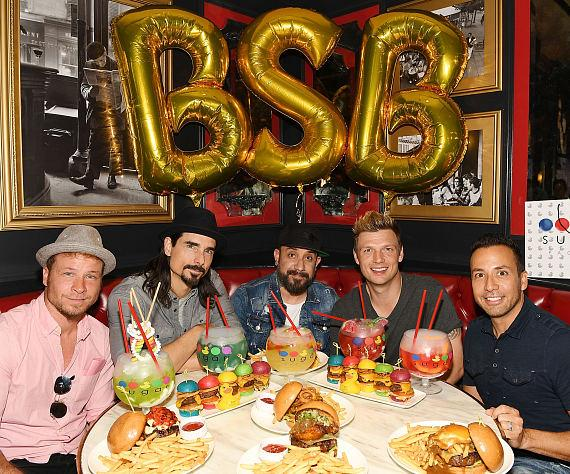 Backstreet Boys enjoy Sugar Factory signature menu items