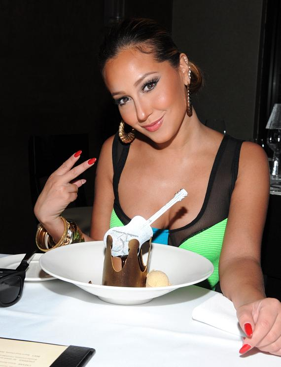 Adrienne Bailon at 35 Steaks + Martinis