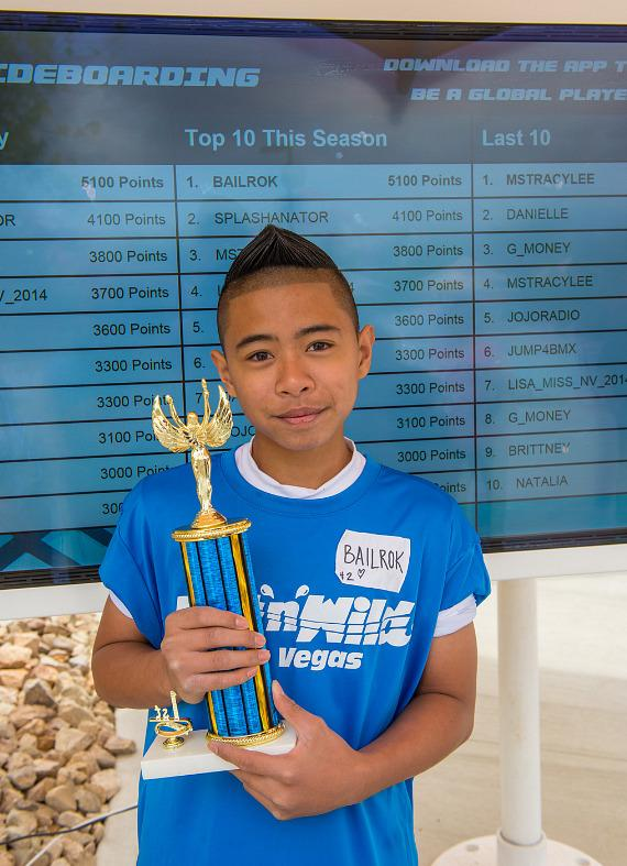 Fitst place winner Bailrok with trophy