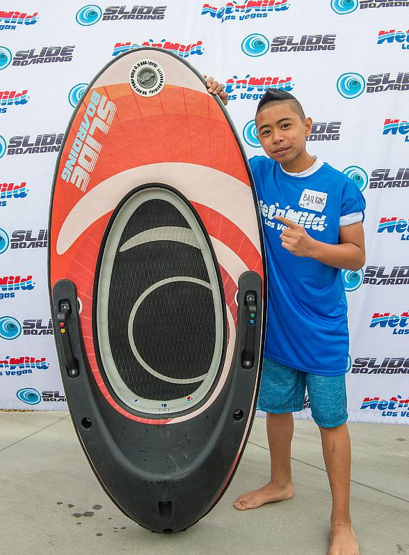 """Celebrity Slideboarding Competition"" Benefits Local Children's Charities at Wet'n'Wild Las Vegas"
