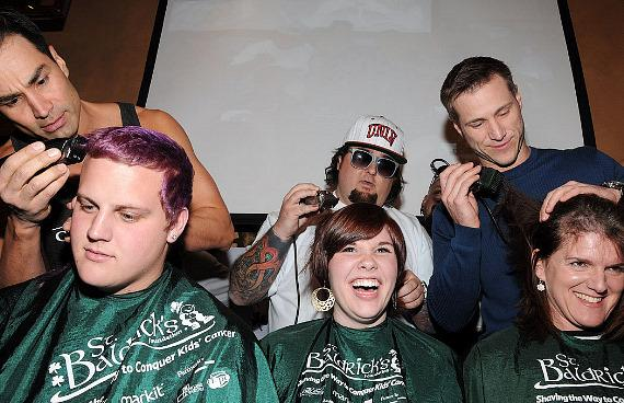 Shaving heads with Chumlee and Jake Pavelka