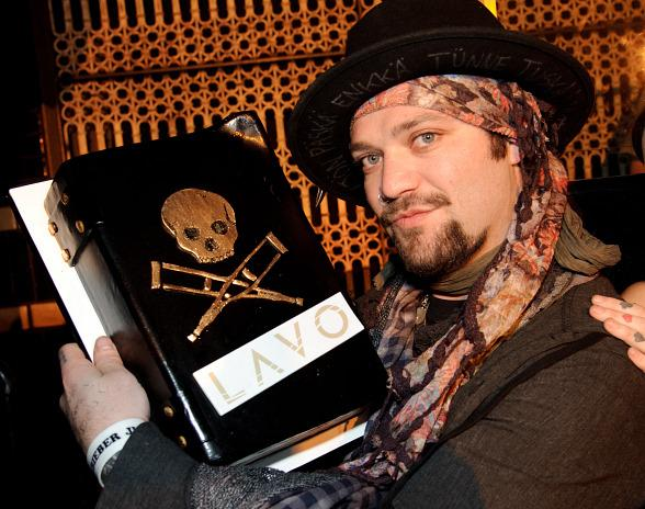 Bam Margera with cake at LAVO