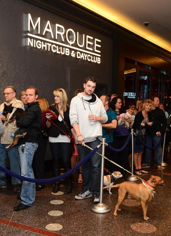 Guests waiting in line for BarQuee at Marquee in Las Vegas