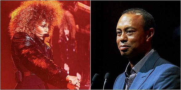 """Janet Jackson and Tiger Woods Join Forces for a Good Cause at Her """"Metamorphosis Residency"""" at Park MGM Las Vegas"""