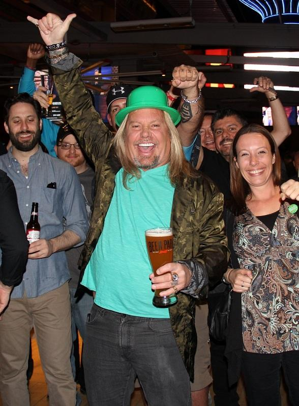 Mötey Crüe front man Vince Neil hosts St. Patrick's Day Party at Beer Park at Paris Las Vegas
