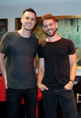 Former Bachelors Ben Higgins and Nick Viall Dine at China Tang Inside MGM Grand in Las Vegas
