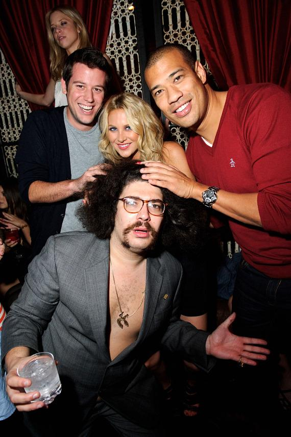 Ben Lyons, Stephanie Pratt, Fabrizio Goldstein and Michael Yo