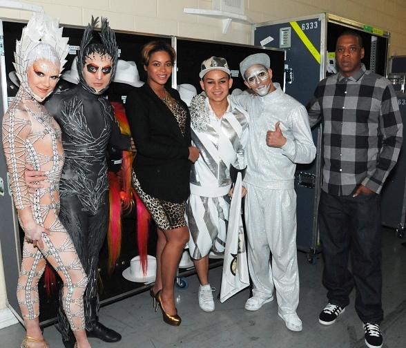 Beyonce and Jay-Z at Michael Jackson THE IMMORTAL World Tour