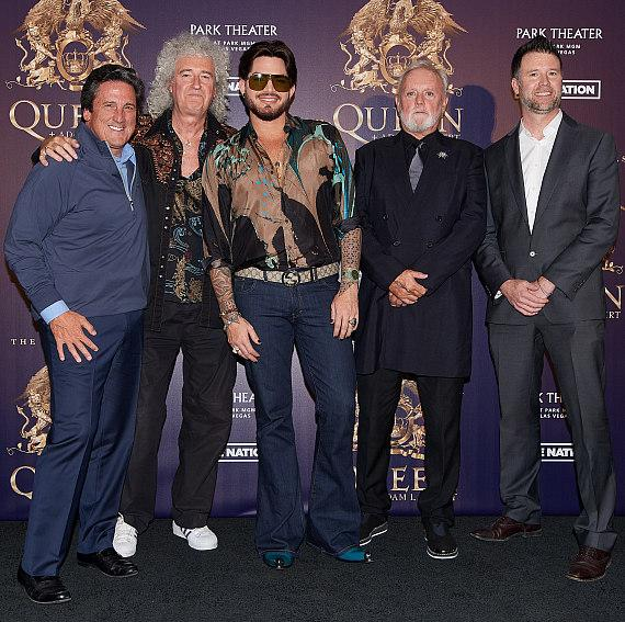 Bill Hornbuckle, Brian May, Adam Lambert, Roger Taylor, Kurt Melien