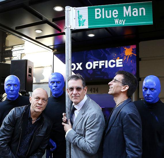 Blue Man Group Co-Founders Chris Wink, Phil Stanton and Matt Goldman
