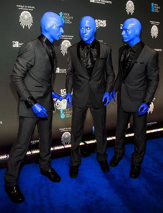 Blue Man Group at the sixth edition of One Night for One Drop imagined by Cirque du Soleil