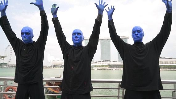 Blue Man Group in Singapore