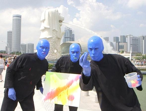 Blue Man Group kicks off World Tour in Singapore