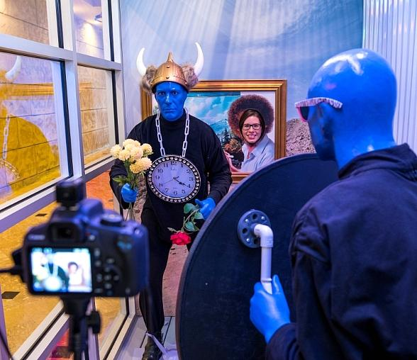 """Experience Blue Man Group's """"Wax Shack"""" Now On Display at Luxor Las Vegas"""