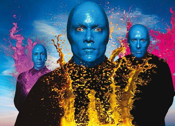 Blue Man Group to Perform Special Rendition of The National Anthem at Las Vegas Wranglers Hockey Game Feb. 9