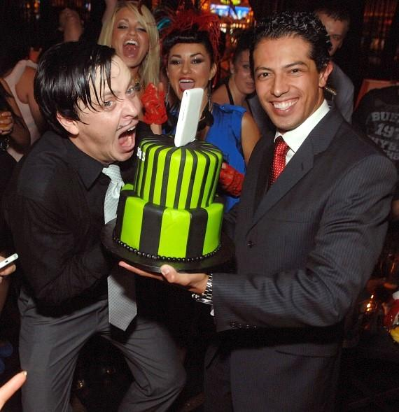 The Gazillionaire with cake at Blush Boutique Nightclub