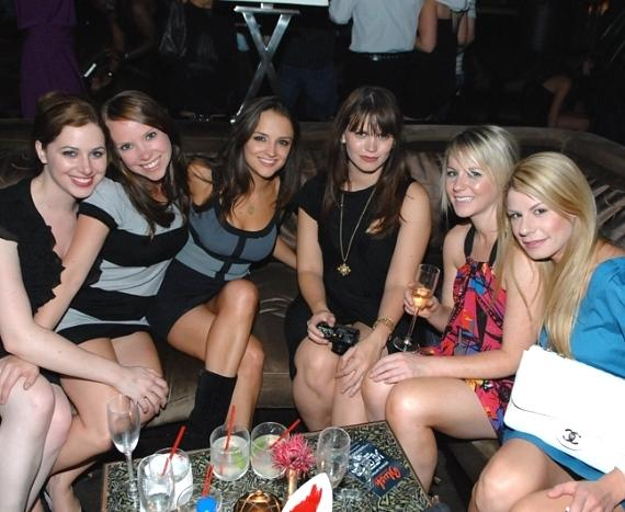 Actress Rachael Leigh Cook with friends at Blush Boutique Nightclub