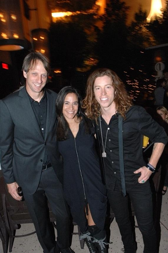 Tony Hawk with Shaun White and friend