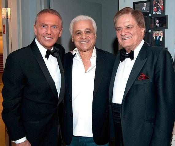 Bob Anderson, Rock in Rio Founder Roberto Medina, and Vincent Falcone at FRANK - The Man. The Music. at The Palazzo Las Vegas
