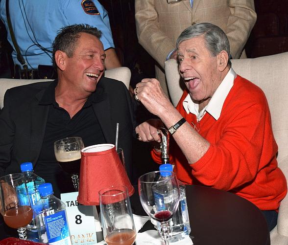 "Jerry Lewis visits ""FRANK - The Man. The Music."" at The Palazzo Las Vegas"