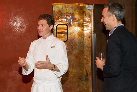 Bobby Flay and Adam Rapoport at Mesa Grill