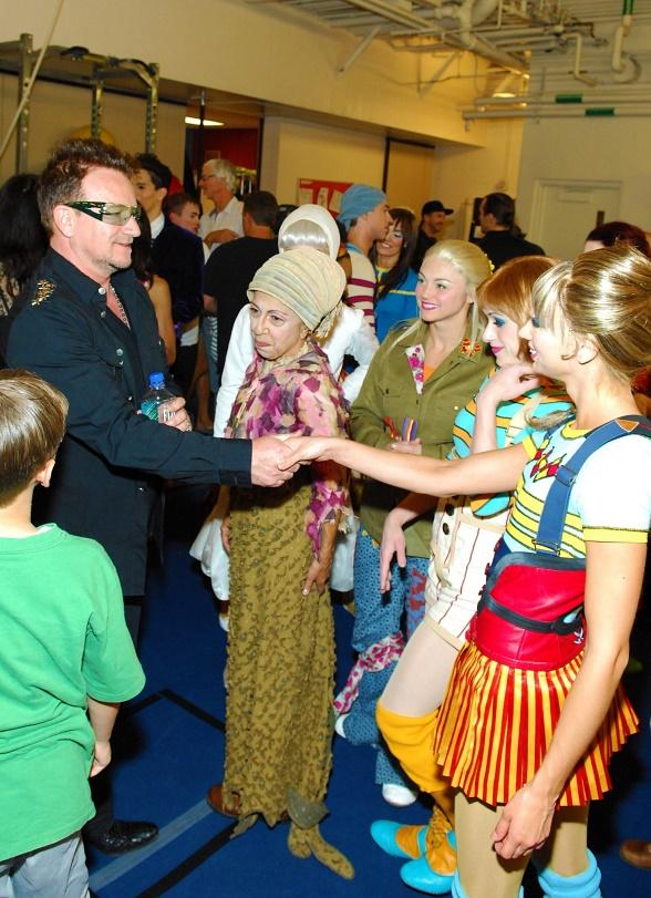 Bono Attends The Beatles LOVE by Cirque du Soleil