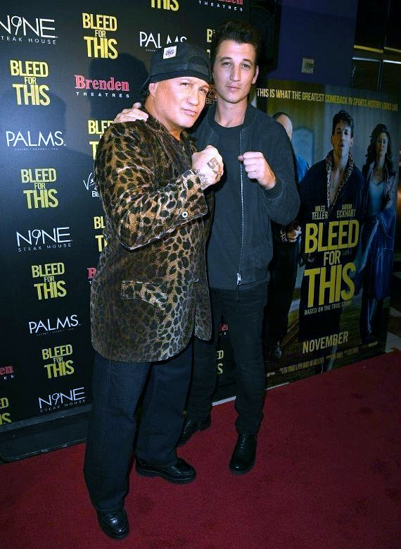 Boxer Vinny Paz and Actor Miles Teller