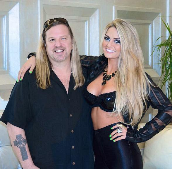 Celebrity Colorist Michael Boychuck with Absinthe starlet Angel Porrino