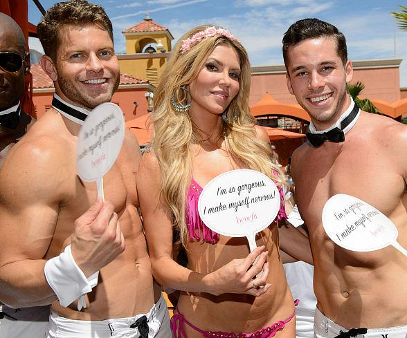 Brandi Glanville and The Chippendales at TAO Beach