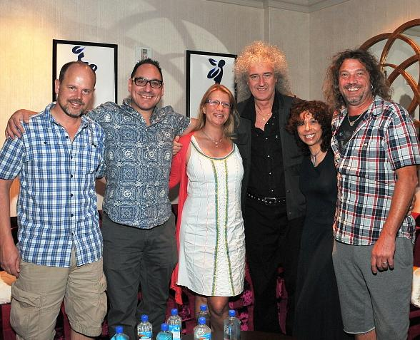 "Brian May of Queen Visits ""O"" by Cirque du Soleil"