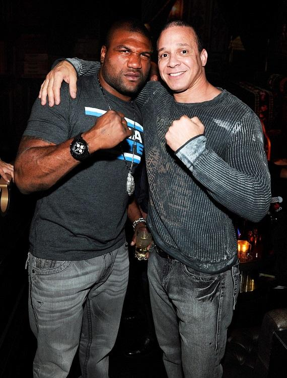 "Quinton ""Rampage"" Jackson and John Lewis, VP of Marketing and Events for Diversified Entertainment Group, Joined in the Halloween Celebration at Gallery Nightclub"