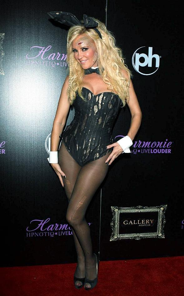 Bridget Marquardt walks the red carpet before HPNOTIQ Harmonie Liqueur's Halloween Bash at Gallery Nightclub