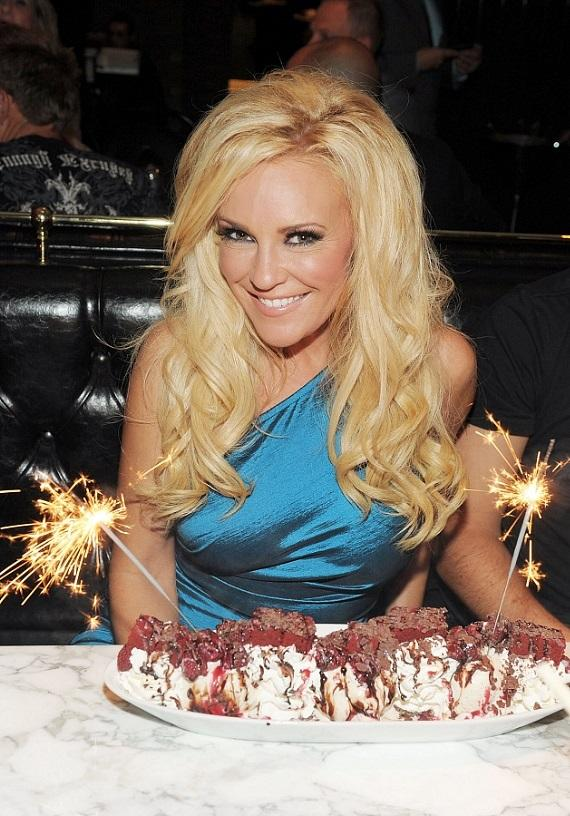 Bridget Marquardt with a red velvet sundae at Sugar Factory American Brasserie