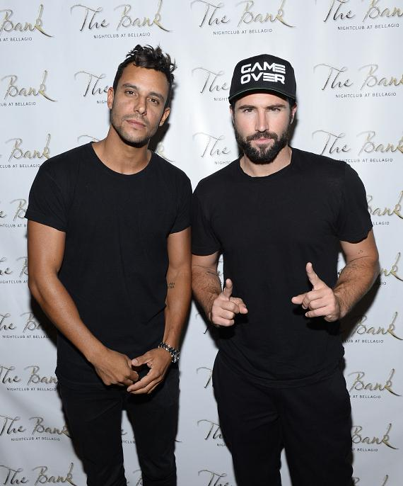 Brody Jenner and Devin Lucien arrive at The Bank Nightclub