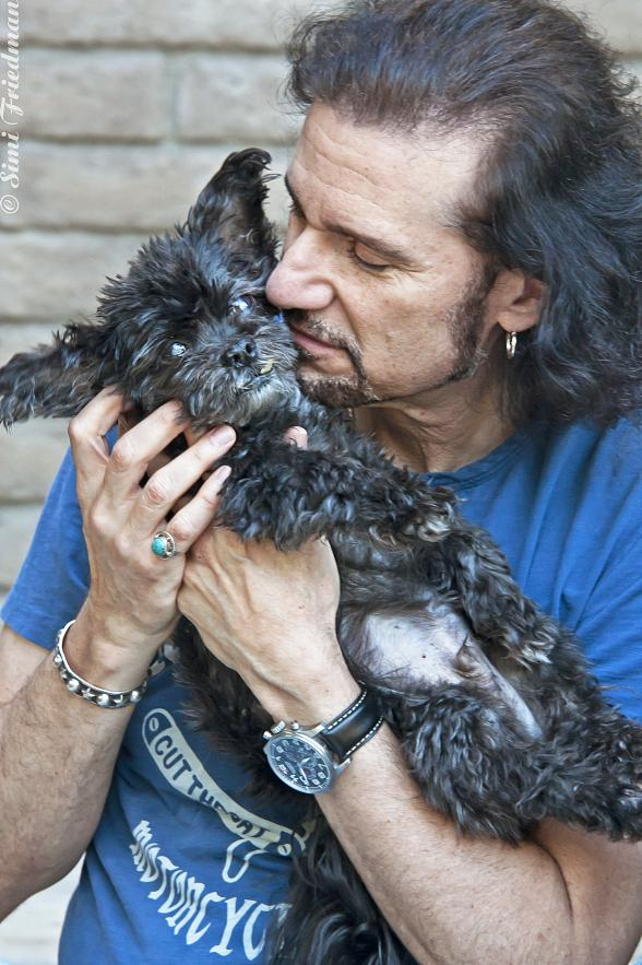 Bruce Kulick and his dog Joe