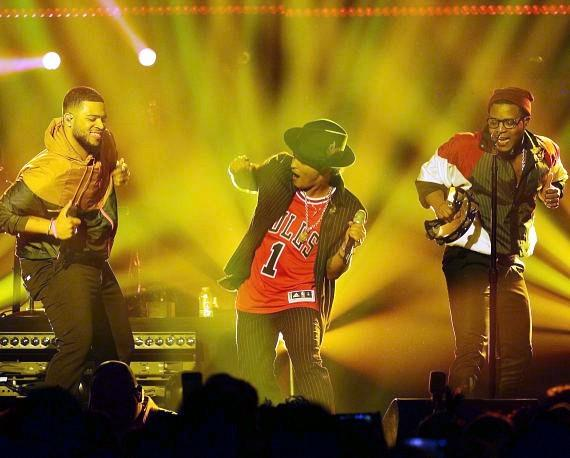 Bruno Mars and The Hooligans perform at The Cosmopolitan of Las Vegas