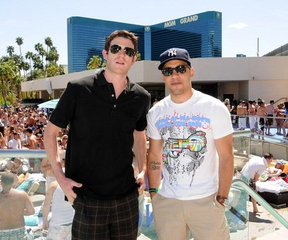 Bryan Greenberg and Victor Rasuk at WET REPUBLIC